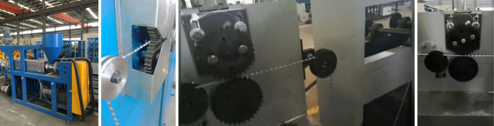 Lead Chain Core Extruder Machinery Metal Lead Line Extrusion Line