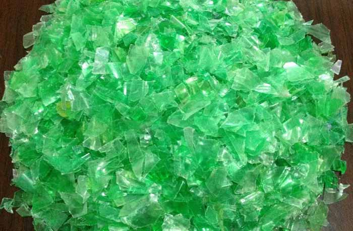 Recycled PET Bottle Flakes To Yarn Making Machine