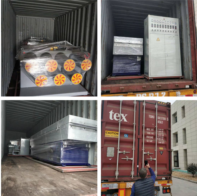 Indian customer filament extruding machine delivery